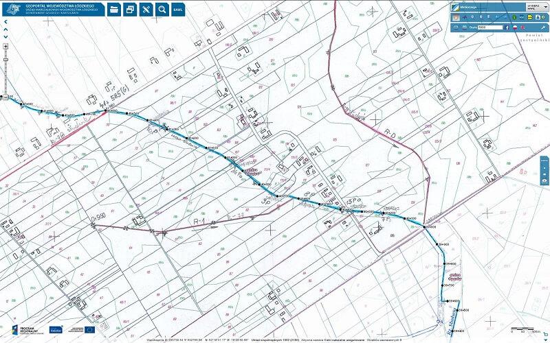 mapa rowów melioracyjnych - raster
